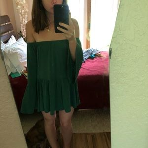 Forest green tunic from urban